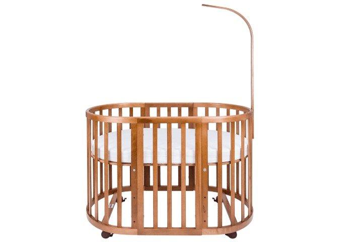Кроватка-трансформер Ellipsebed 70х120 коричневого цвета