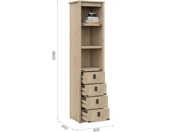 Шкаф-пенал Валенсия бежевого цвета
