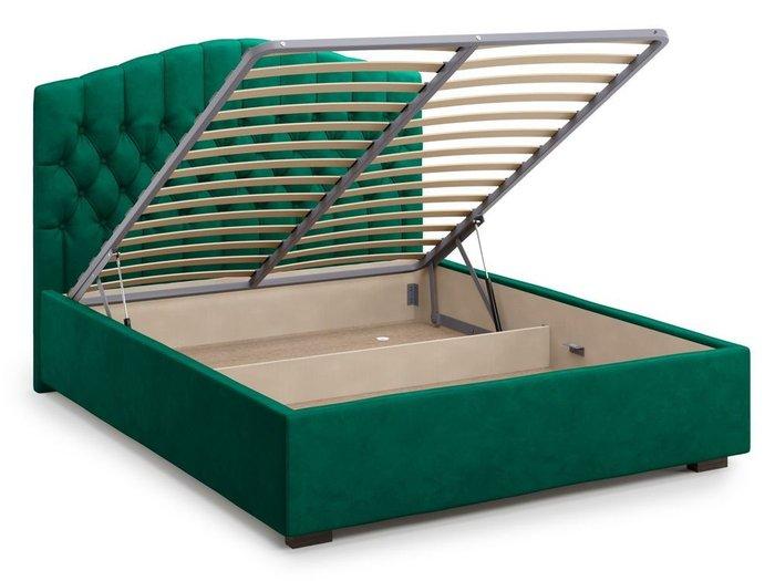 Кровать с подъемным механизмом Lugano 140х200 зеленого цвета
