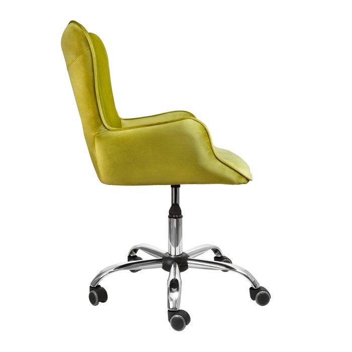 Кресло поворотное Bella оливкового цвета