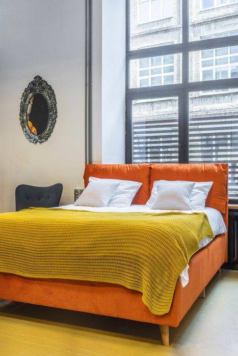 Кровать Trazimeno 160х200 оранжевого цвета