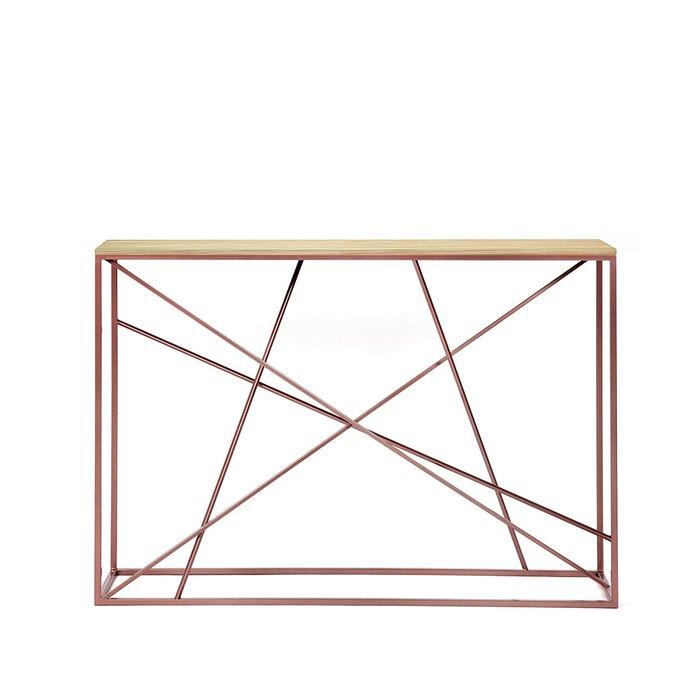 Консоль Wilson line copper светлый дуб