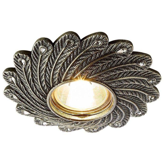 Встраиваемый светильник Desing серебряного цвета