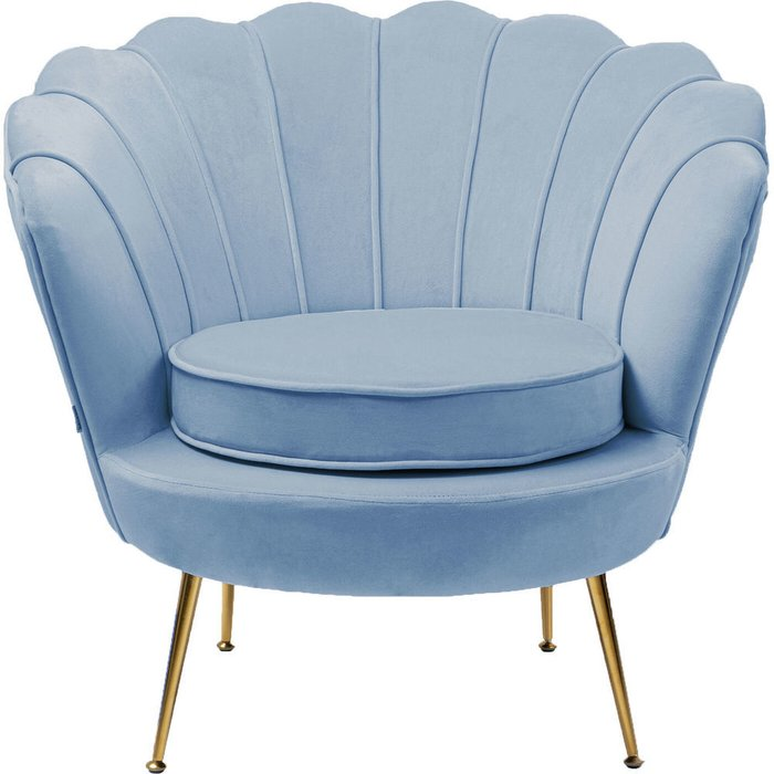 Кресло Water Lily голубого цвета