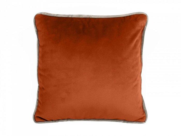 Подушка декоративная Boxy терракотового цвета