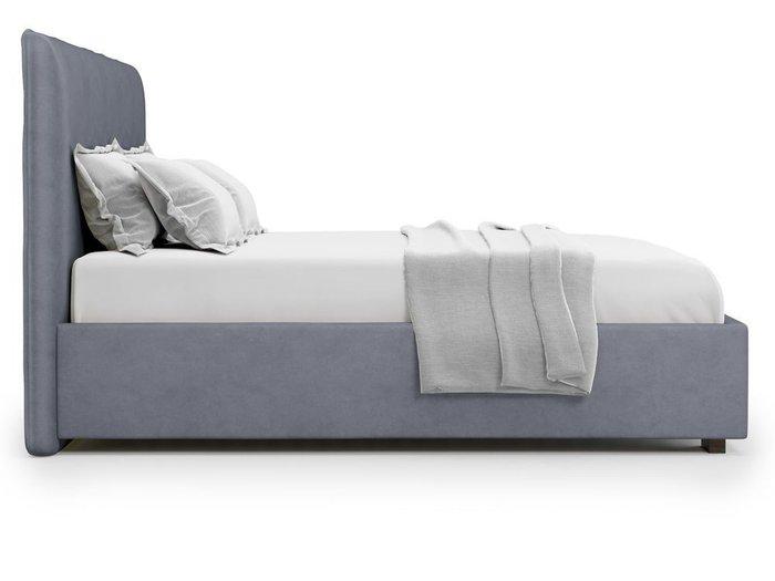 Кровать Brachano 160х200 серого цвета