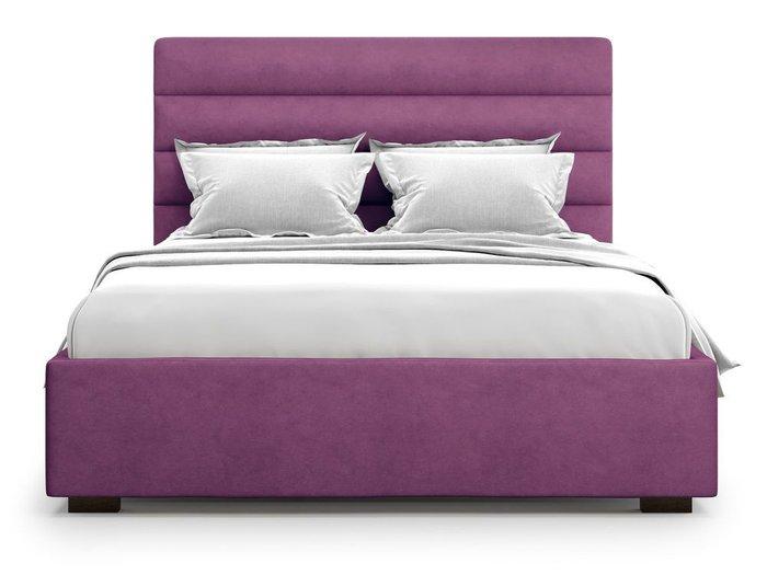 Кровать с подъемным механизмом Karezza 180х200 фиолетового цвета