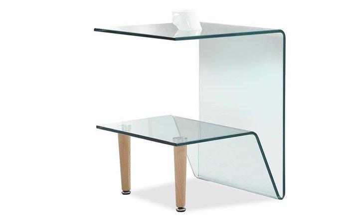 Столик приставной Kim со стеклянными полками