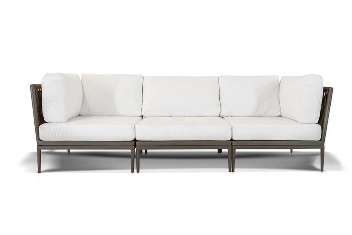 Трехместный диван Касабланка  серо-коричневого цвета