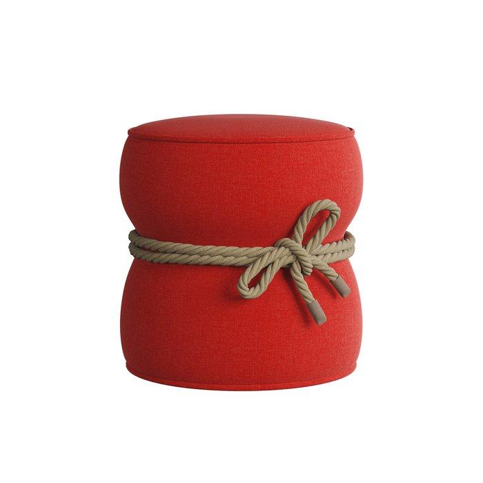 Мягкий пуф Cravt красного цвета