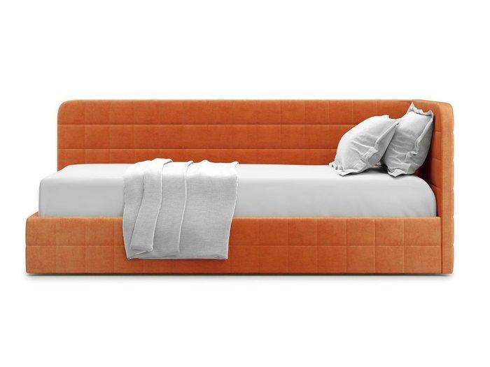 Кровать с подъемным механизмом Tichina 120х200 оранжевого цвета