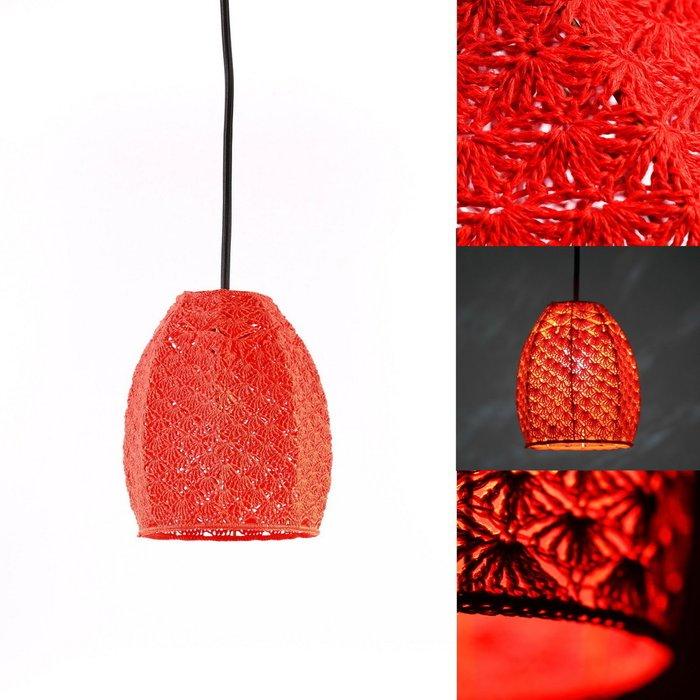 Подвесной светильник Тюльпан Большой красный