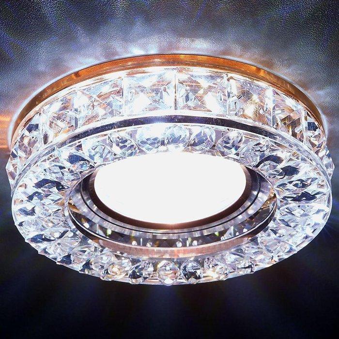 Встраиваемый светодиодный светильник Led из металла и стекла