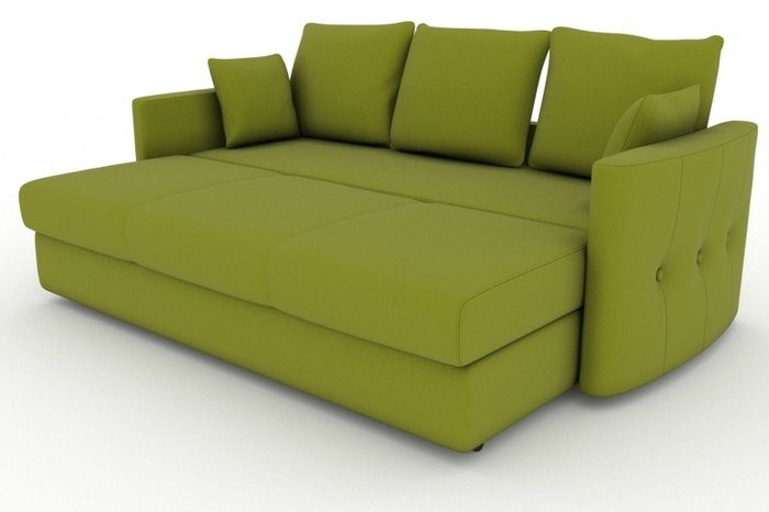 Прямой диван-кровать Луна зеленого цвета