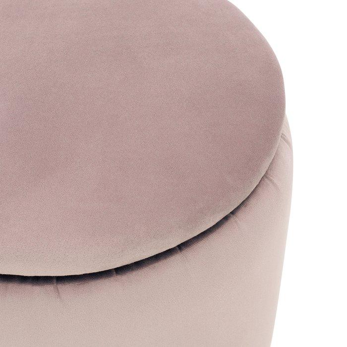Пуф Йорк бежево-розового цвета