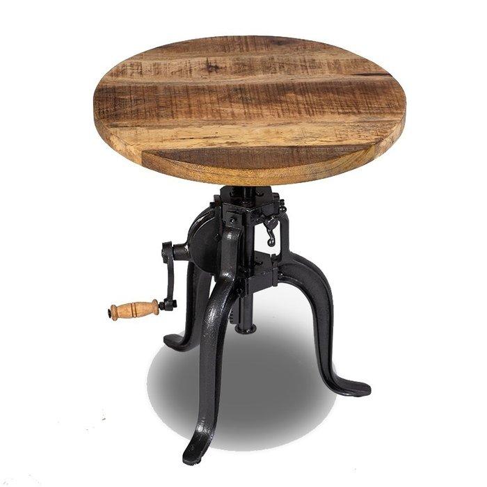 Кофейный столик Самачар со столешницей из массива манго
