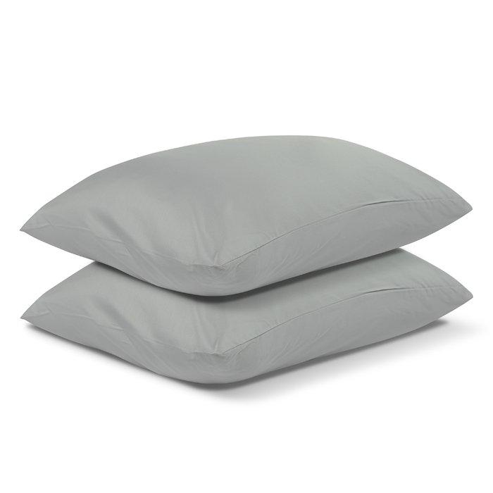 Комплект постельного белья Essential из сатина светло-серого цвета 150х200