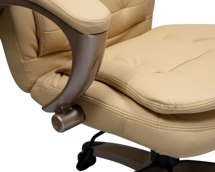 Офисное кресло для руководителей Donald бежевого цвета