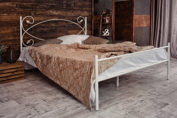 Кованая кровать Виктория 1.8 с одной спинкой 180х200