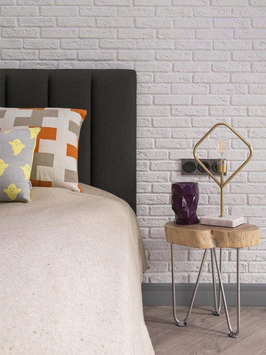 Кровать Клэр 160х200 лилового цвета