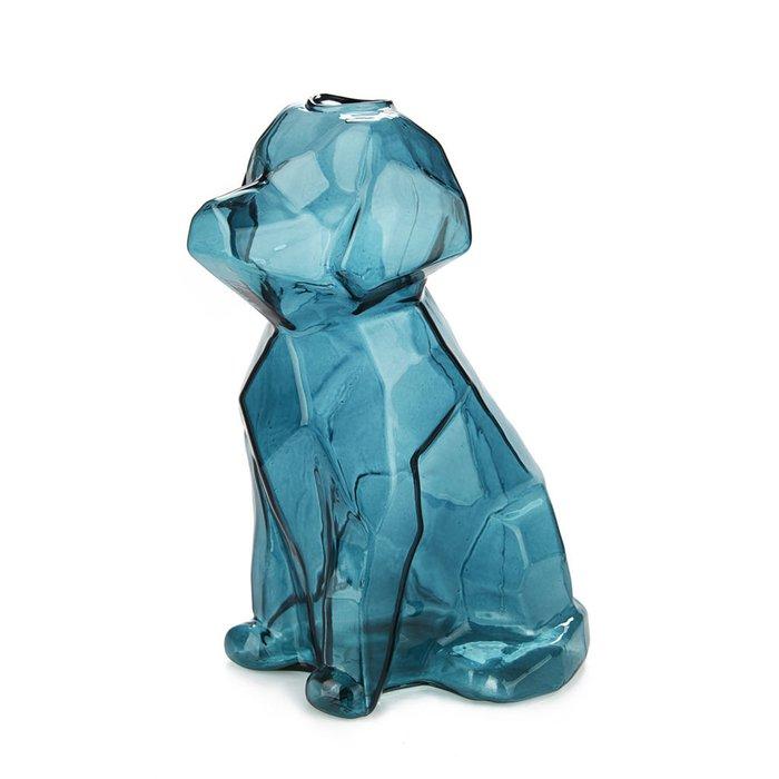Ваза Sphinx Dog синего цвета