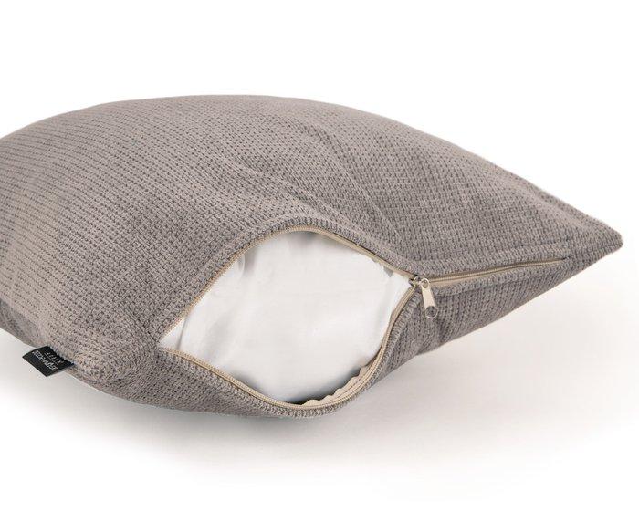 Декоративная подушка Dallas Ash серого цвета