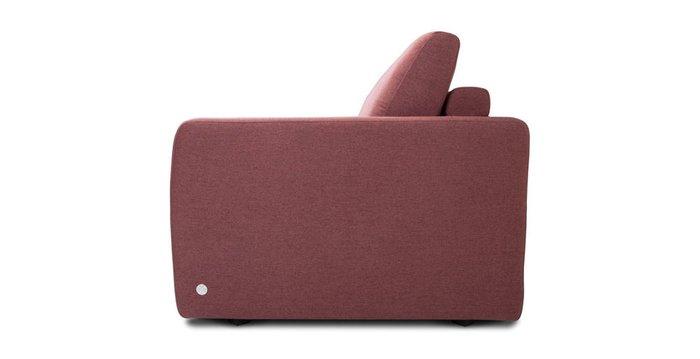 Прямой диван-кровать Бруно красного цвета