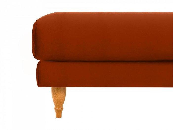 Пуф Italia коричневого цвета