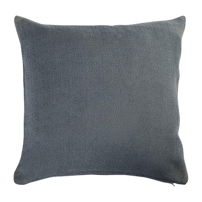 Подушка декоративная Essential из хлопка фактурного плетения темно-серого цвета
