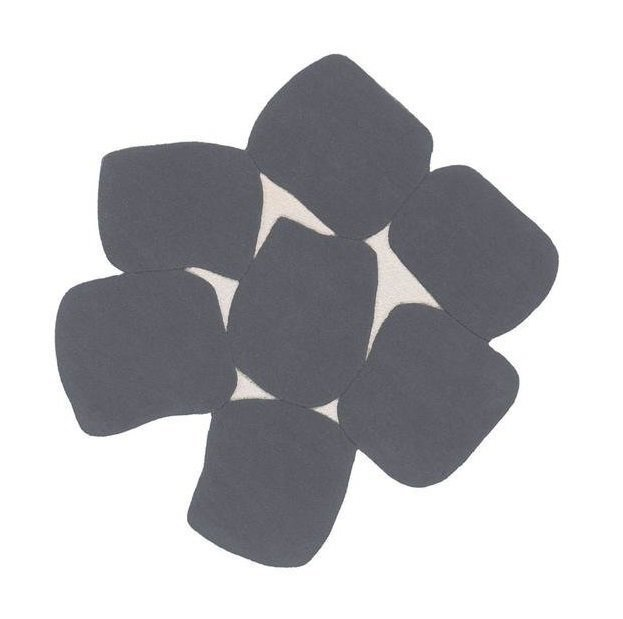 Круглый ковер Sweets серого цвета 100 см