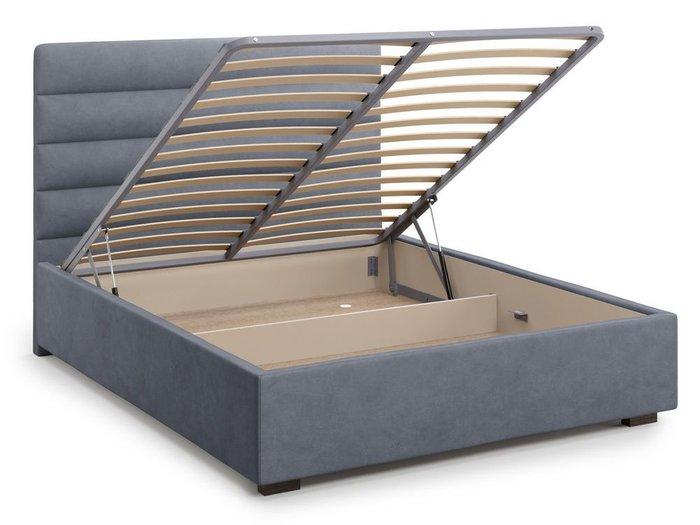 Кровать с подъемным механизмом Karezza 160х200 серого цвета