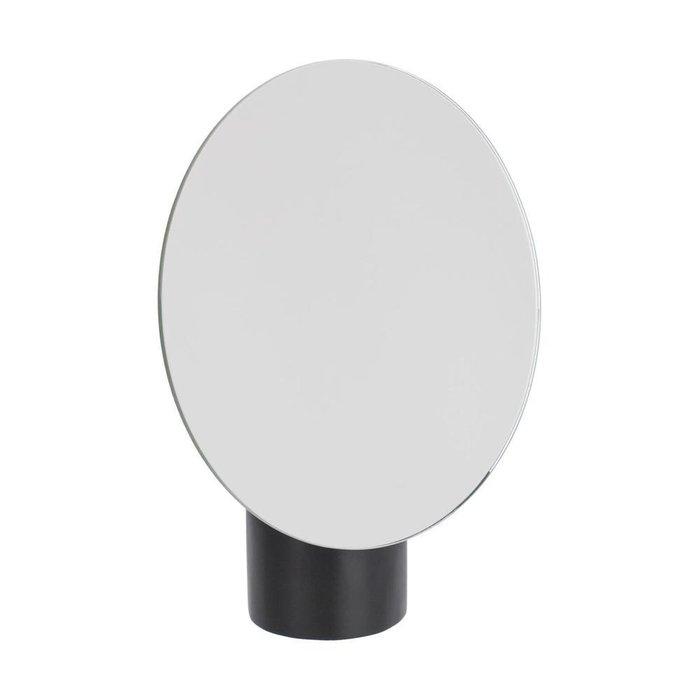 Настольное зеркало Veida с деревянной подставкой черного цвета