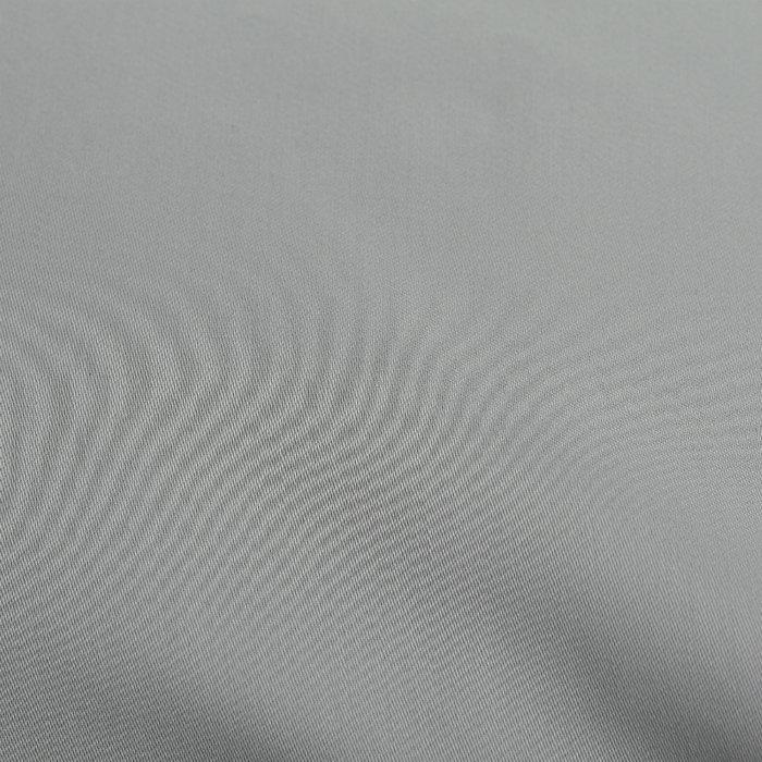 Простыня на резинке Essential из сатина светло-серого цвета 180х200