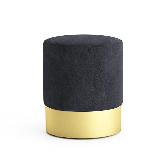 Пуф на золотом основании Domane темно-серого цвета