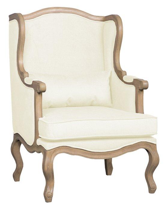 Кресло Сезарина молочного цвета