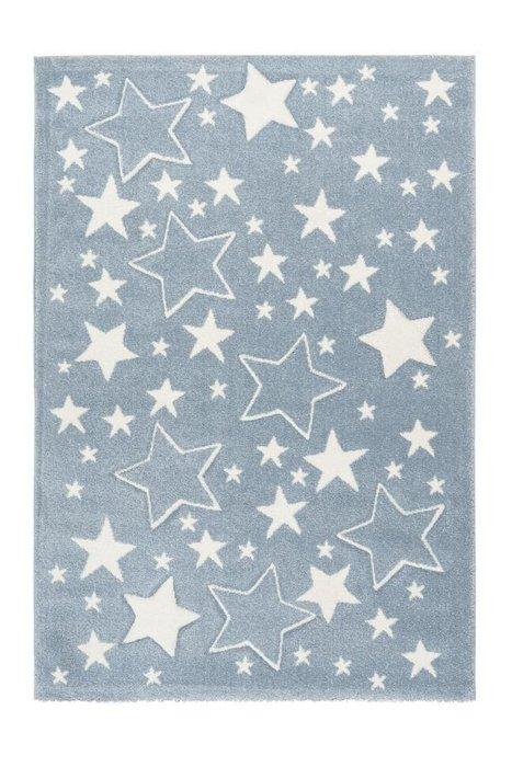 Детский ковер Amigo Stars Blue голубого цвета 80х150