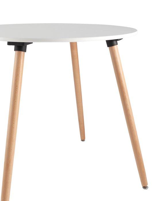 Обеденный стол Oslo Round с белой столешницей