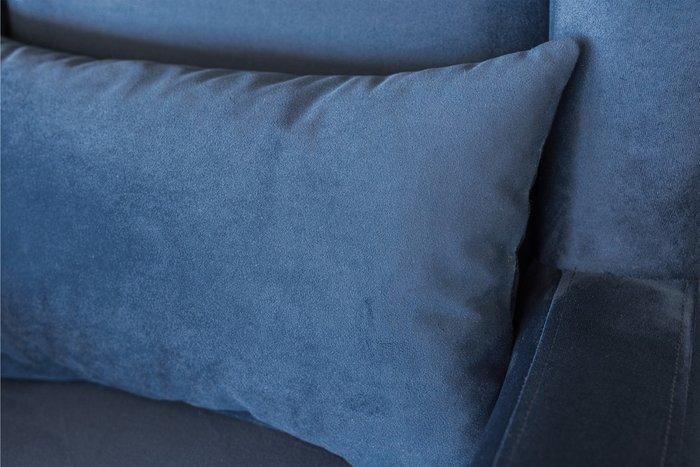 Кресло Оскар в обивке из велюра синего цвета