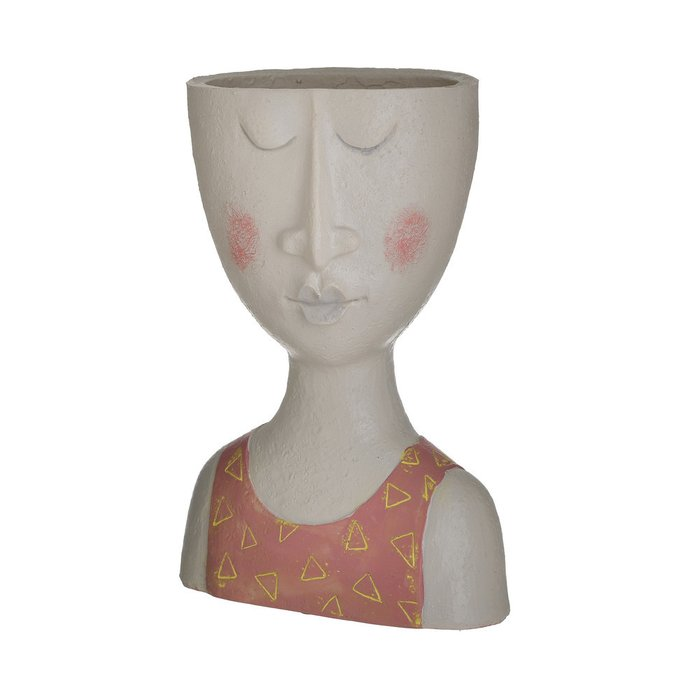 Ваза-кашпо Face бежево-оранжевого цвета