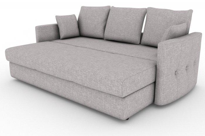Прямой диван-кровать Луна серого цвета