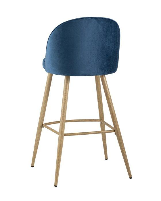 Стул барный Лион синего цвета