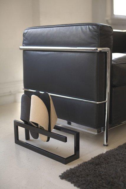 Подставка для хранения тапочек Line черного цвета