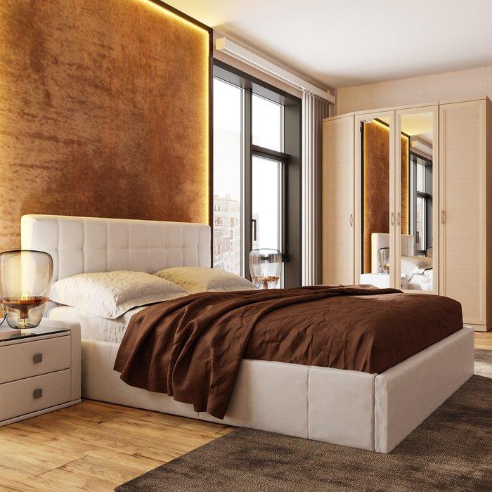 Кровать Инуа 120х200 белого цвета с подъемным механизмом