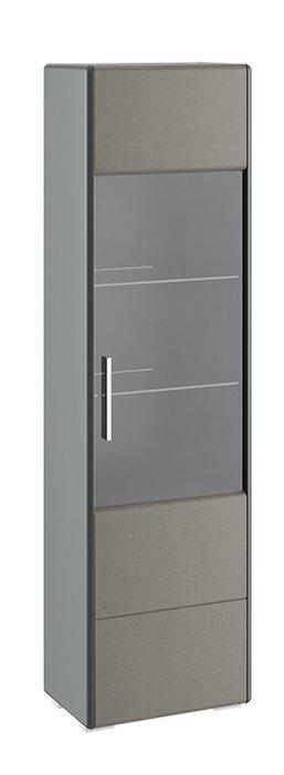 Шкаф для посуды Наоми серого цвета