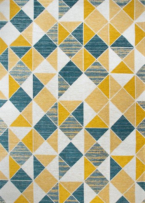 Ковер Line Sven желто-лазурного цвета 135х200
