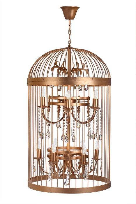 Подвесная люстра Birdcase золотого цвета
