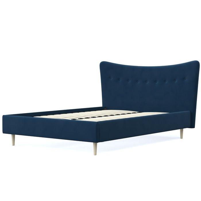 Кровать Финна 140x200 синего цвета