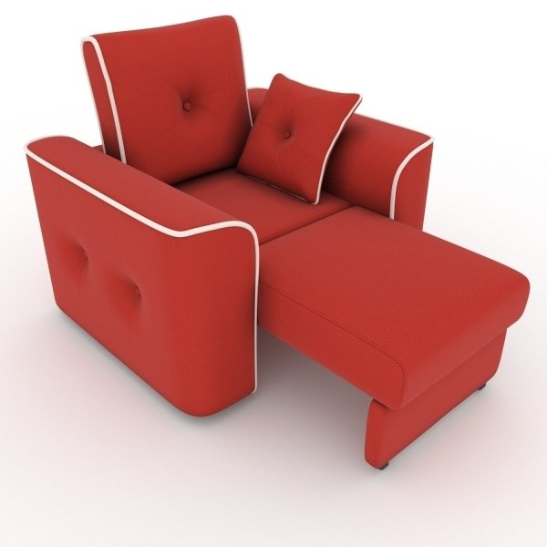 Кресло-кровать Navrik красного цвета