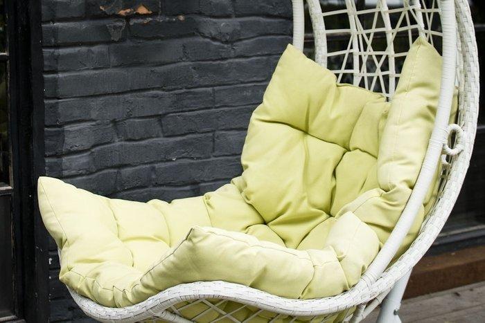 Подвесное кресло Виши белого цвета