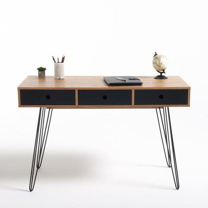 Письменный стол Biface с черными ящиками